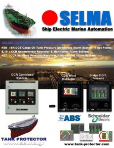 Wind Speed Angle - Bridge Pressure Monitor - Inert Gas - Bridge Pressure Cargo Oil - Tank Manifold Pressure Recorder (ExxonMobil MESQAC) SELMA Combined Integrated System